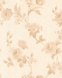 Cora Beige Floral Damask by