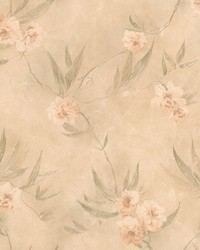 Liang Peach Chinese Floral  by