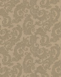 Fulham Olive Scrolls by  Brewster Wallcovering