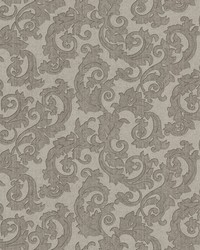Fulham Silver Scrolls by  Brewster Wallcovering