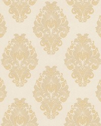 Bromley Beige Satin Damask by