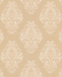 Bromley Peach Satin Damask by