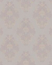 Bromley Mauve Satin Damask by
