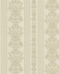Kensington Light Green Damask Stripe by