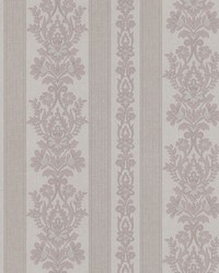 Kensington Mauve Damask Stripe by