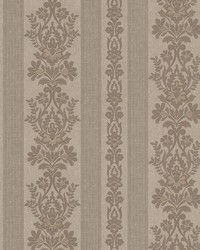 Kensington Pewter Damask Stripe by