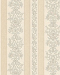 Kensington Light Blue Damask Stripe by