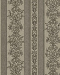 Kensington Grey Damask Stripe by