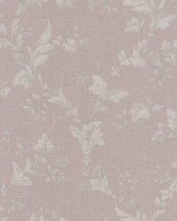 Thames Mauve Leafy Scroll by
