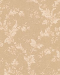 Thames Beige Leafy Scroll by