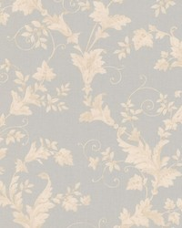 Thames Light Grey Leafy Scroll by