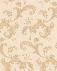 Isleworth Beige Floral Scroll by