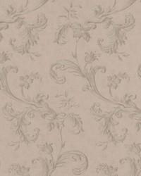Isleworth Grey Floral Scroll by