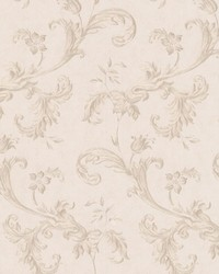 Isleworth Taupe Floral Scroll by
