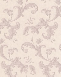 Isleworth Mauve Floral Scroll by