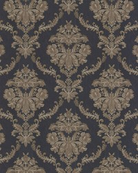 Westminster Dark Blue Damask by