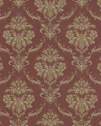 Westminster Burgundy Damask by