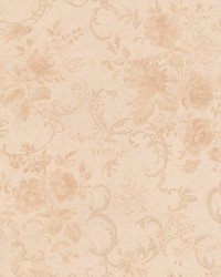 Highbury Peach Floral Scroll by