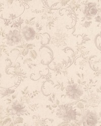 Highbury Mauve Floral Scroll by