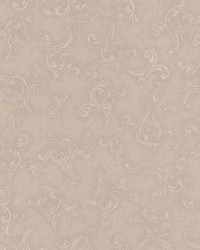 Highgate Taupe Embroidered Scroll by