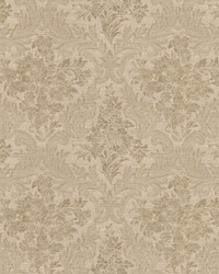 Cotswold Brass Floral Damask by