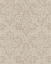 Cotswold Taupe Floral Damask by