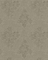 Cotswold Silver Floral Damask by