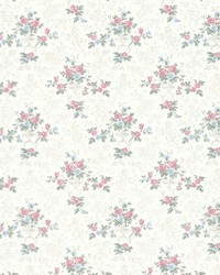 Kezea White Petit Floral Urn by  Brewster Wallcovering