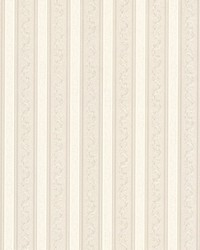 Kendra Neutral Scrolling Stripe by  Brewster Wallcovering