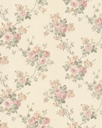 Kristin Blush Rose Trail by  Brewster Wallcovering
