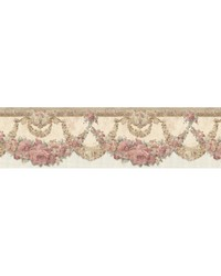 Marianne Salmon Floral Bough Border by