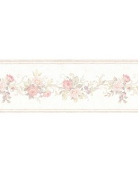 Lory Blush Floral Border by