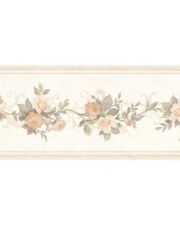 Lory Peach Floral Border by