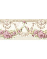 Marianne Mauve Floral Bough Border by