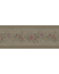 Alexa Olive Floral Meadow Border by