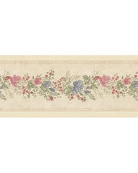 Alexa Beige Floral Meadow Border by