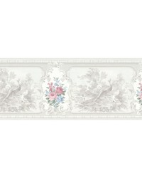 Kris Platinum Aviary Cameo Fleur Border by