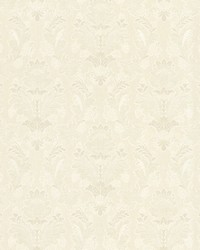 Capulet Ivory Silk Damask by