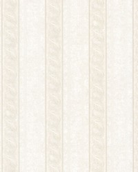 Montague Off-White Scroll Stripe by