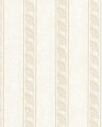 Montague Cream Scroll Stripe by