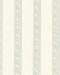 Montague Light Green Scroll Stripe by