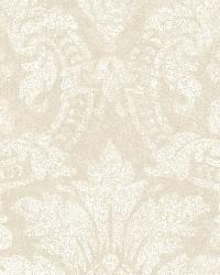 Cynthia Grey Distressed Damask Wallpaper by