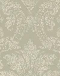 Cynthia Charcoal Distressed Damask Wallpaper by