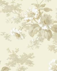 Julie Grey Floral Bouquet Wallpaper by