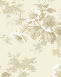 Julie Grey Floral Bouquet Wallpaper by