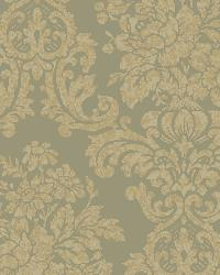 Illume Green Damask Wallpaper by