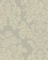 Illume Blue Damask Wallpaper by