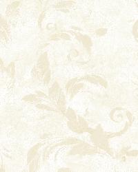 Edith White Acanthus Brushstroke Wallpaper by