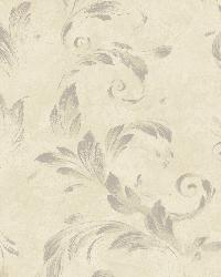 Edith Mauve Acanthus Brushstroke Wallpaper by