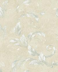 Edith Blue Acanthus Brushstroke Wallpaper by